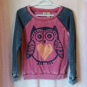Mudd Girls Owl Sweater